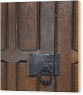 The Wrought Iron Handle Wood Print
