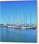 The Yacht Club Wood Print