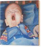 The Yawn Wood Print