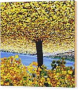 The Yellow Ceiling Wood Print