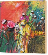 The Yellow River Of The Tour De France Wood Print