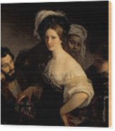 The Young Courtesan Wood Print