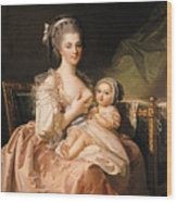 The Young Mother Wood Print