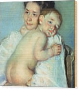 The Young Mother Wood Print by Mary Stevenson Cassatt