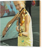 The Young Violinist  Wood Print