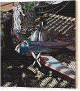 The Zebra In Colour Wood Print