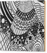 The Zendoodle Desert Wood Print