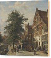 The Zuiderhavendijk, Enkhuizen, 1868 Wood Print