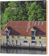 The 1905 Wooden Andreas Odfjell Warehouse On Bergen Harbor Wood Print