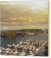 Thea Foss Waterway In Tacoma Washington Wood Print