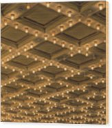 Theater Ceiling Marquee Lights Wood Print