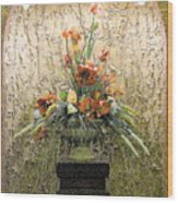 Theater Flower Arrangement Wood Print