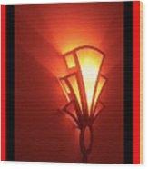 Theater Homage Art Deco Lighting Fixture Fox Tucson 2 Tucson Arizona 2006 Grand Reopening Wood Print