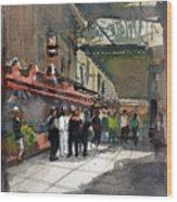 Theater Restaurants London  Wood Print