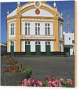 Theatre In Ribeira Grande, Azores Wood Print