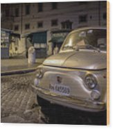 The Fiat 500 Wood Print