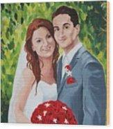 Their Wedding Day Wood Print