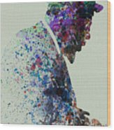 Thelonious Monk Watercolor 1 Wood Print