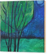 Then Came Evening Wood Print
