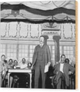 Theodore Roosevelt Speaking At National Wood Print by Everett