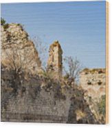 Theodosian Walls - View 10 Wood Print