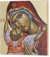Theotokos Kardiotissa I Wood Print
