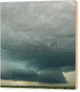 There Be A Nebraska Storm A Brewin 013 Wood Print