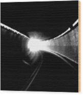 There Is Light At The End Of The Tunnel Wood Print