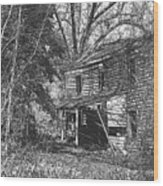 There Was Joy In This House Wood Print