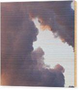 There's Smoke And Then There's S M O K E Wood Print