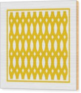 Thick Curved Trellis With Border In Mustard Wood Print