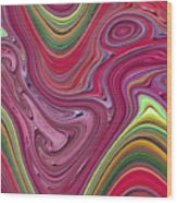 Thick Paint Abstract Wood Print