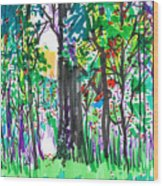 Thicket Wood Print