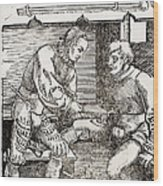 Thigh Cauterization, 16th Century Wood Print