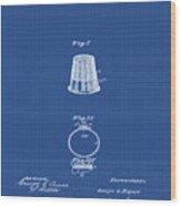 Thimble Patent 1891 In Blue Print Wood Print