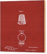 Thimble Patent 1891 In Red Wood Print
