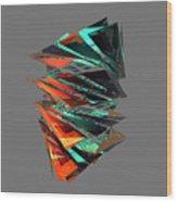 Thin Glass Triangles - 127 Wood Print