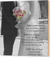 Things To Remember About Love - Black And White #3 Wood Print