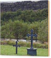 Thingvellir Church Cemetery, Iceland Wood Print