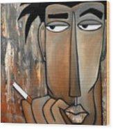 Think Again Wood Print