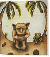 Thinking About Coconuts Wood Print