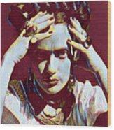 Thinking Frida Wood Print