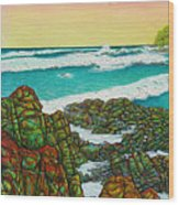 Third Bay Coolum Beach Triptych Wood Print