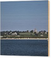 Third Beach Middletown With Church Wood Print