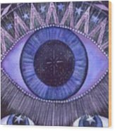 Third Eye Chakra Wood Print