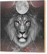 Third Eye Lion Vision Wood Print