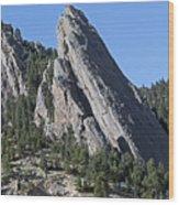 Third Flatiron In Boulder Colorado Wood Print by Brendan Reals