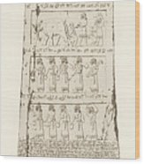 Third Side Of Obelisk, Illustration From Monuments Of Nineveh Wood Print