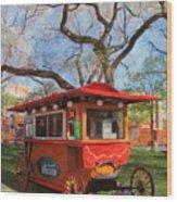 Third Ward - Popcorn Wagon Wood Print