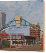Third Ward Arch Over Public Market Wood Print